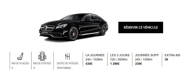 location voiture prestige paris