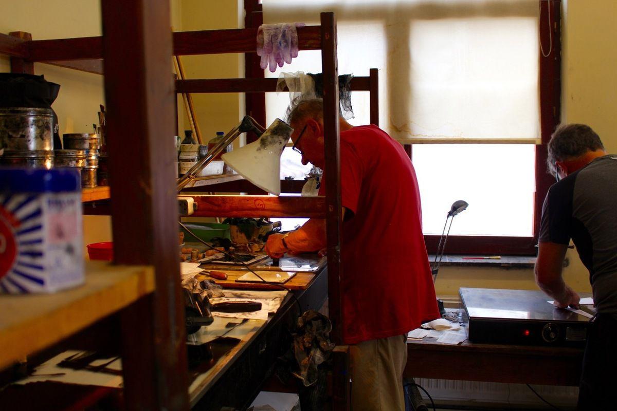 notre stage de gravure litho lino et pointe sèche