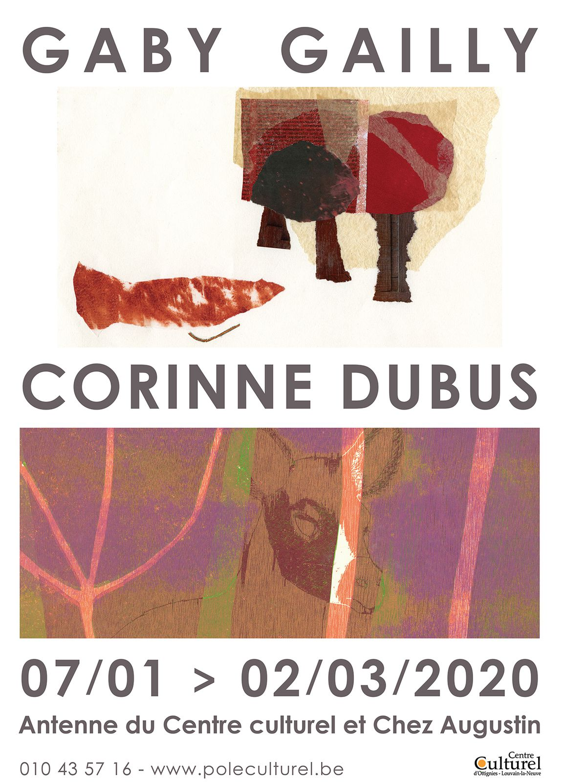 Exposition Gaby Gailly et Corinne Dubus