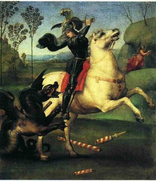 Saint Georges et le Dragon (Raphaël 1505)