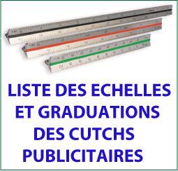 échelles standards pour kutch en plastique ou en aluminium