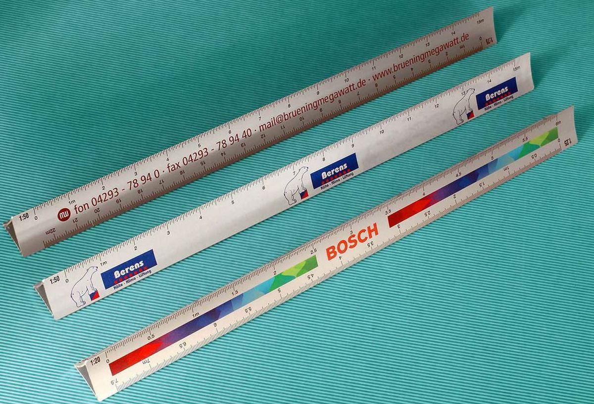 Exemples de kutch en aluminium de 30 cm avec angles plats