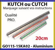 Kutch triangulaire de 20 cm en aluminium anodisé avec 6 échelles sur mesure