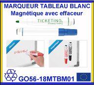 Marqueur tableau blanc magnétique avec effaceur
