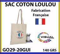 Sacs coton Loulou 140 gr fabriqué à 100 pour 100 en France - GO29-20GUI