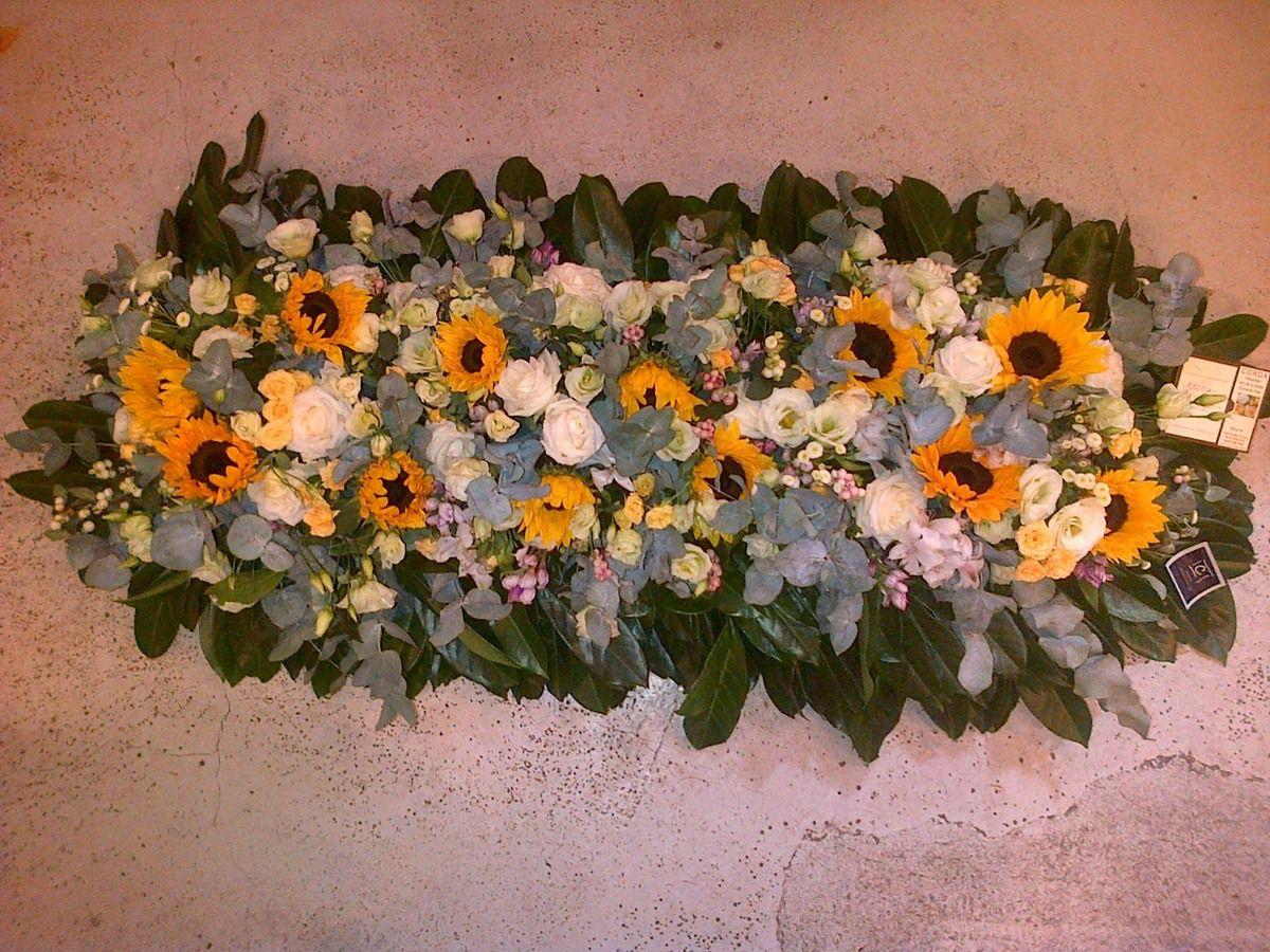 deuil fleurs