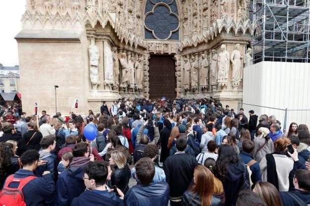 Venue de Marine Lepen à Reims, plusieurs centaines de contre manifestants