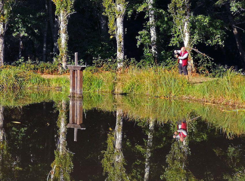 """Le charme et le calme de l'étang de """"La Belle Fontaine"""" à Ste Montaine"""