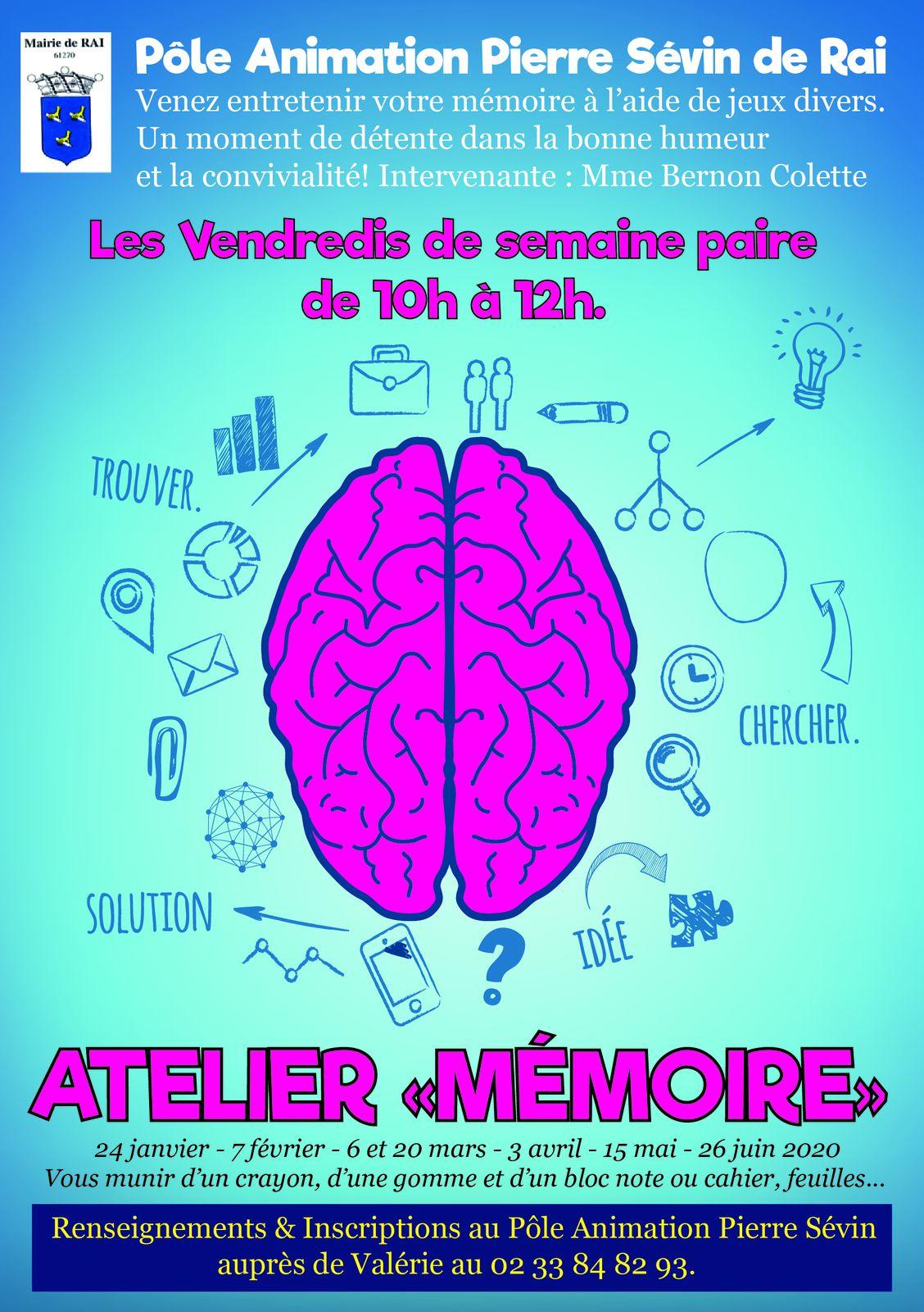Atelier Mémoire au Pôle Animation Pierre Sévin