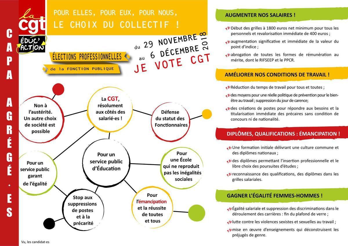 CAPA Agrégés - Profession de foi CGT éduc'action