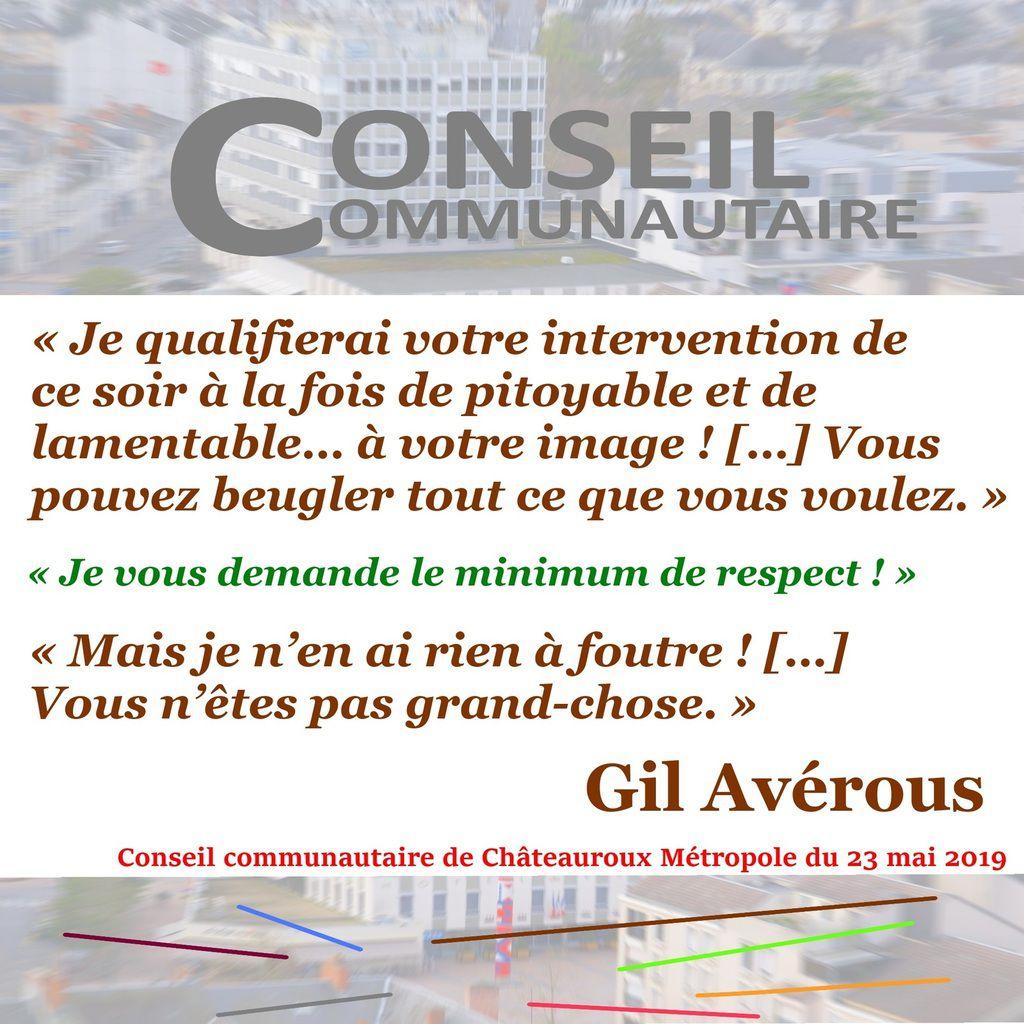 Extrait du procès-verbal de la séance du Conseil communautaire de Châteauroux Métropole le 23 mai 2019