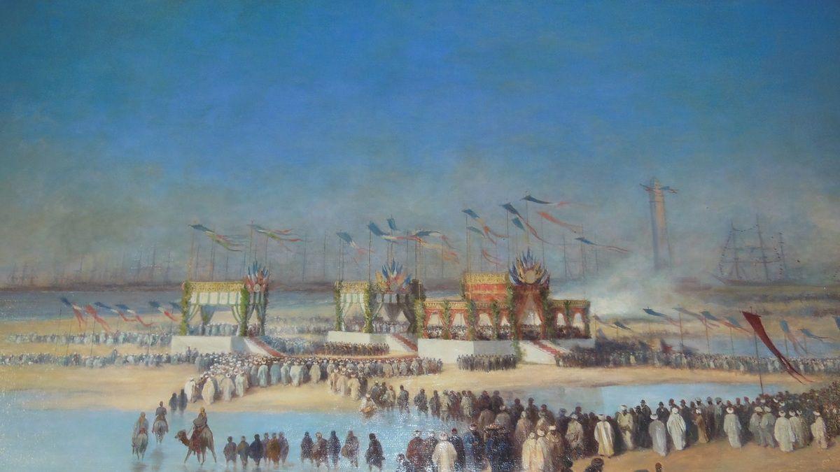 L'inauguration du Canal de Suez par Édouard Riou (1833 - 1900)