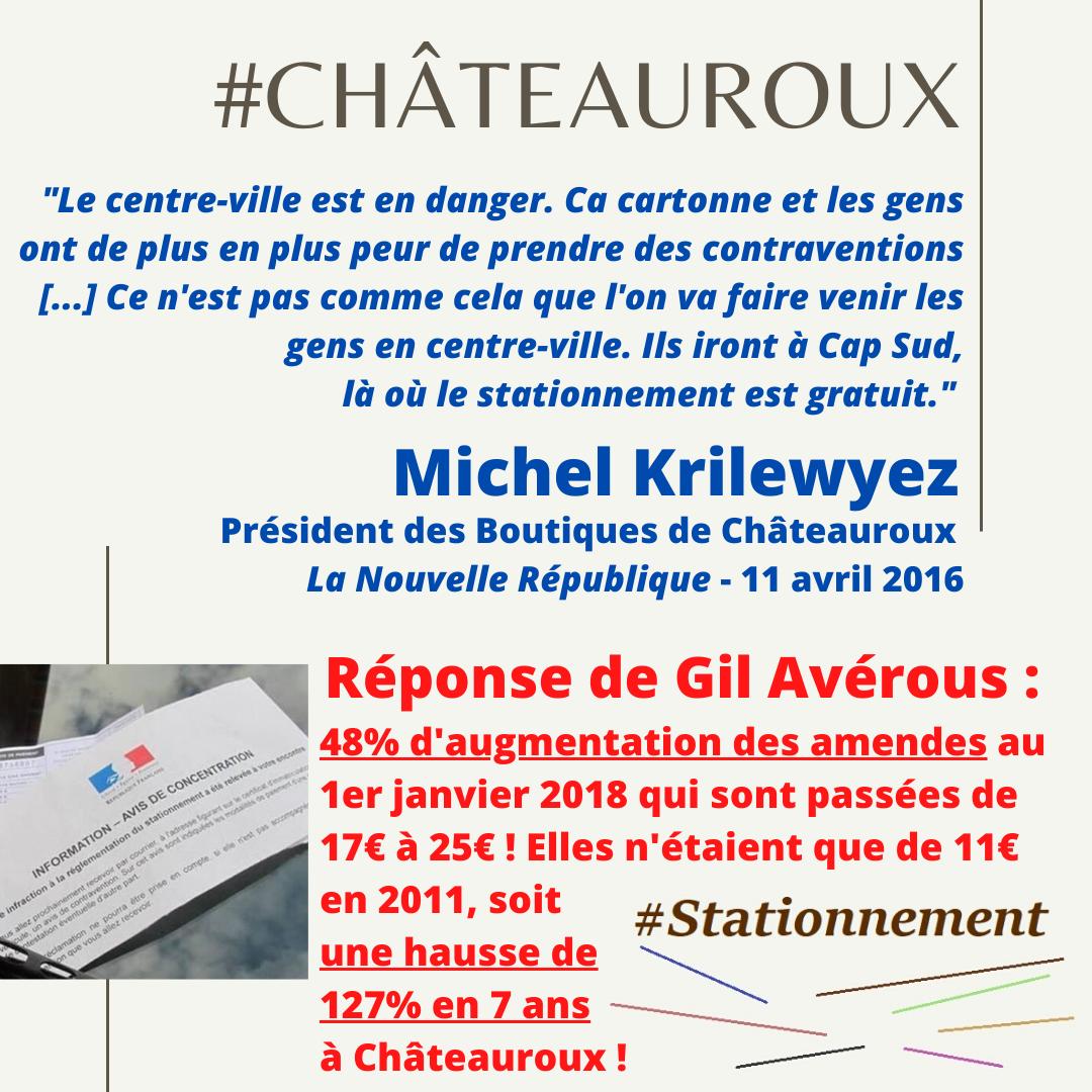 Hausse des amendes de 127% en 7 ans à Châteauroux !