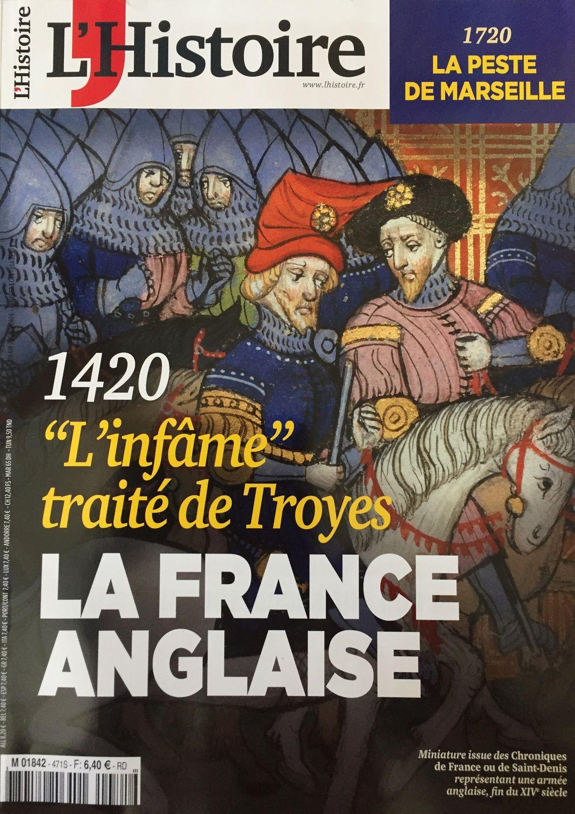 """L'Histoire de mai 2020 et l'affiche de l'Exposition """"Troyes 1420, un roi pour deux couronnes"""""""