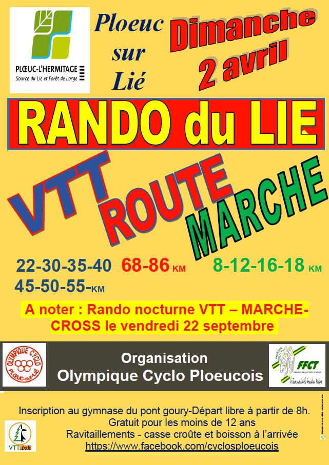 Rando du Lié : 2 avril 2017.