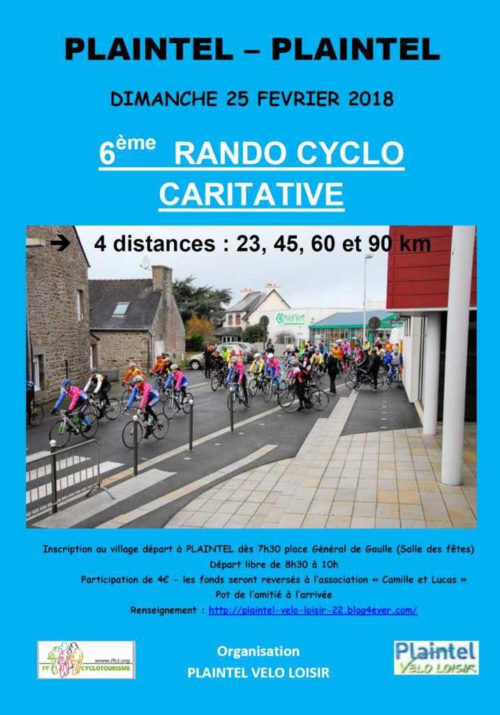 Rando Cyclo caritative - PLAINTEL