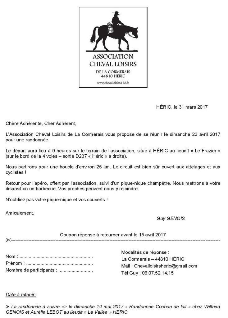 Rando à Héric (44) dimanche 23 avril 2017
