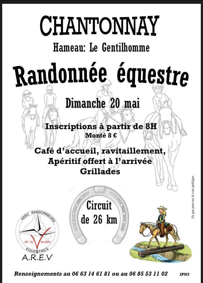 Rando à Chantonnay (85) dimanche 20 mai 2018