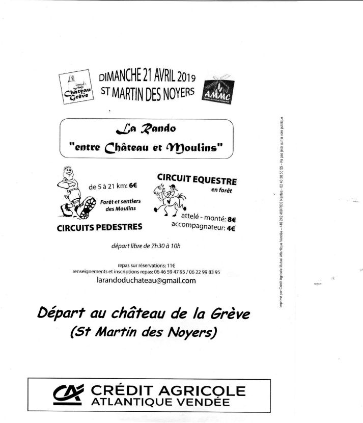 Rando à Saint Martin des Noyers (85) dimanche 21 avril 2019