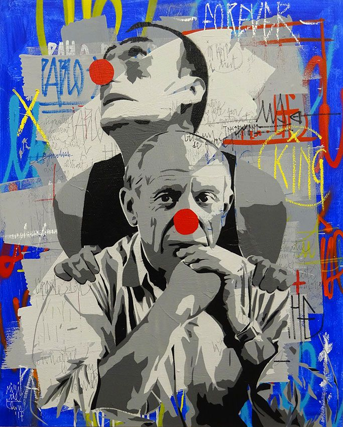 Mimi the Clown autoportrait avec Pablo Picasso