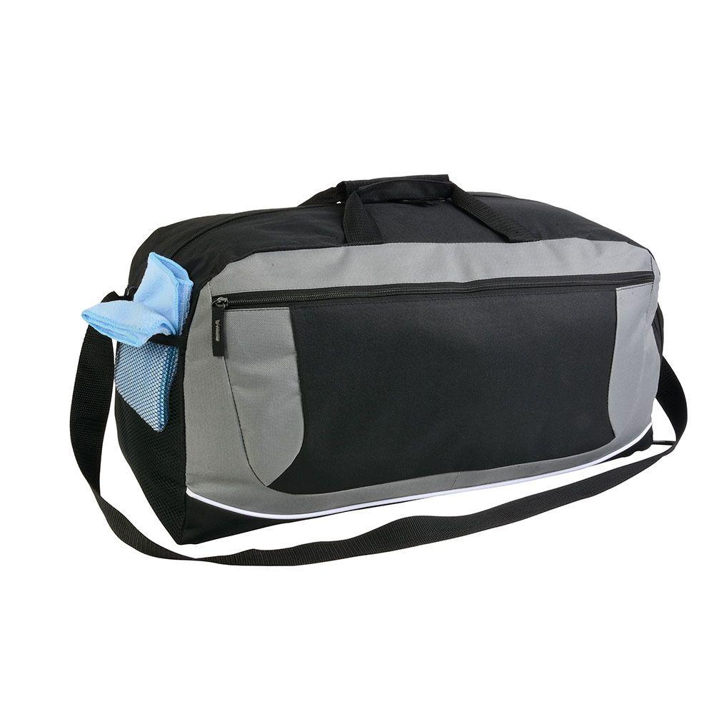 sac sport / voyage noir bandoulière en polyester 600D - Ref : SV17125