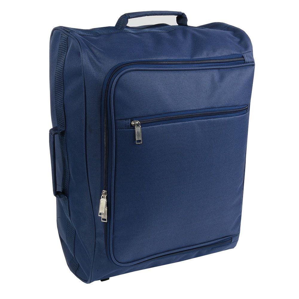 sac voyage bleu à roulette avec poignée retractable ref : SV15134
