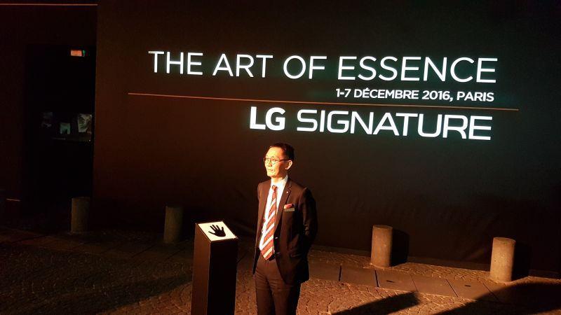 LG espère séduire les parisiens avec sa nouvelle gamme «Signature»