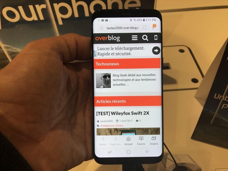 Premier contact avec le Samsung Galaxy S8
