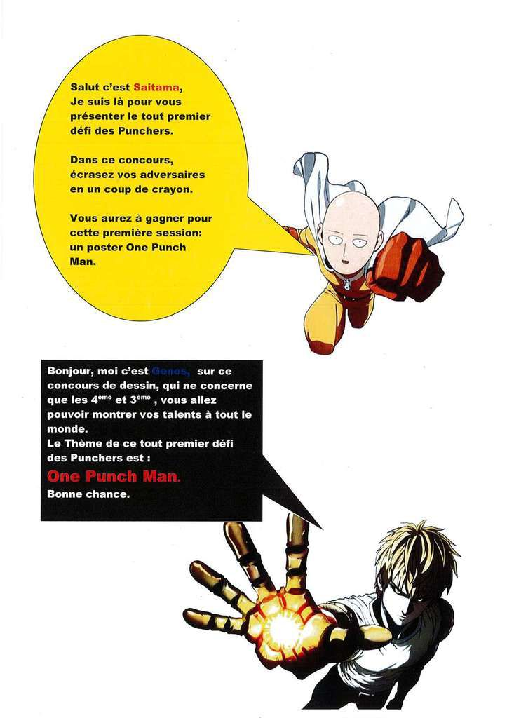 One Punch Man : le concours