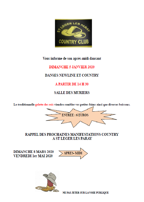 Bal Saint Leger les Paray Country Club le 5 janvier 2020 à Saint Leger les Paray