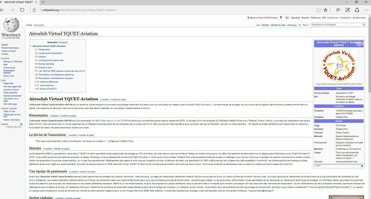 AVYA sur Wikipédia, pour combien de temps ?
