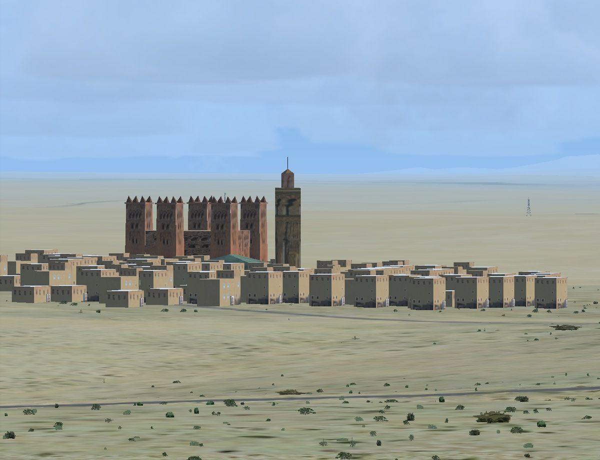 Photo prise, par Tyto31, d'un village vu depuis la tour de Ouarzazate...