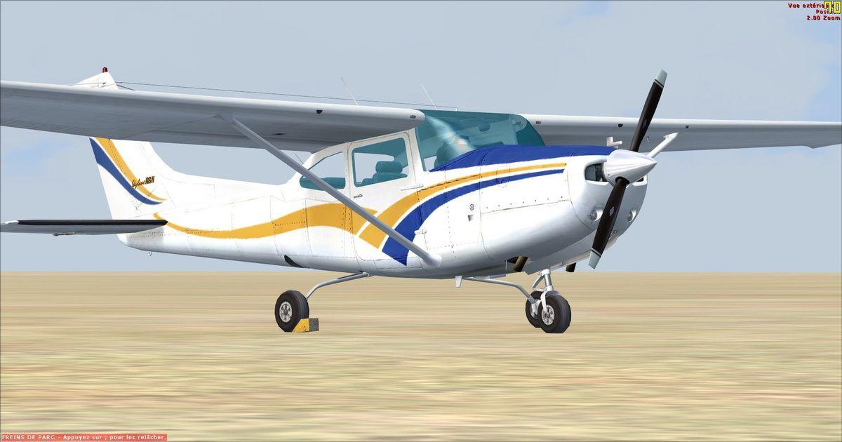 Le Cessna prêt à partir vers de nouveaux horizons...