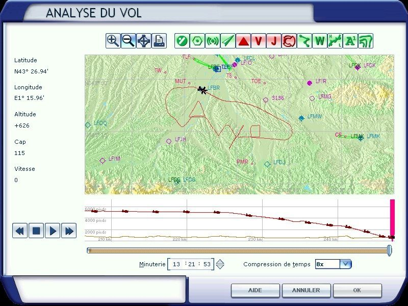 """Le """"AVYA"""" réalisé par Tyto31 à bord d'un Cessna autour du terrain de Muret-Lherm, visible grâce à FSX..."""