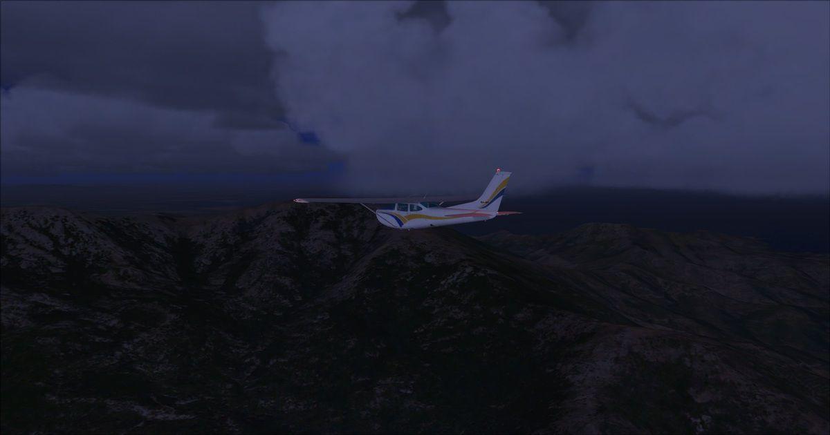 Après 4h30 de vol, survol de la frontière Espagno-Française, à droite se trouve Cerbère...