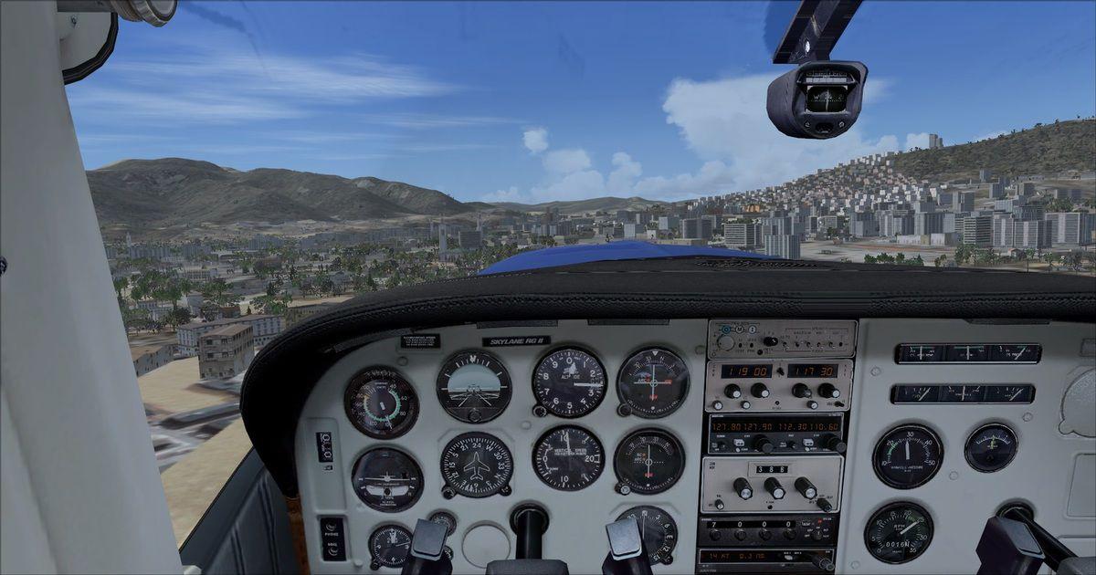 Départ piste 24 vers la ville de Tétouan pour un dernier survol...