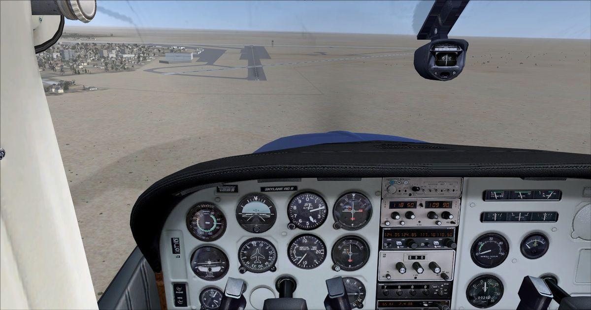Approche piste 12, le but des essais est de se poser avant le croisemement des pistes, afin de réaliser des atterrissages courts...