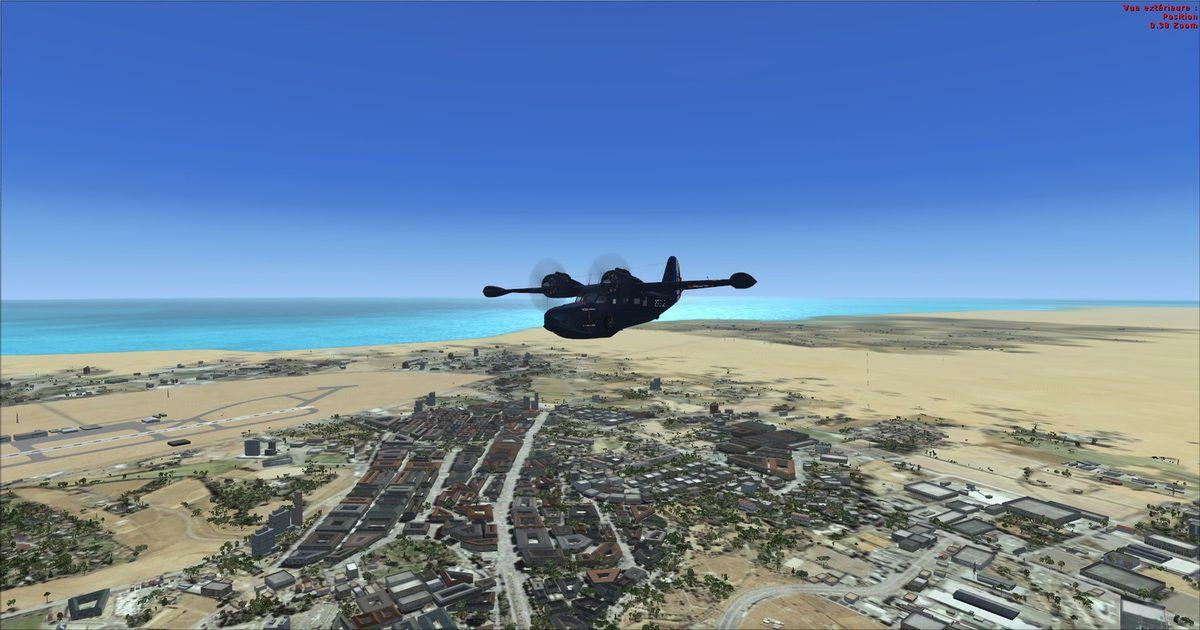 Départ piste 16, puis virage main droite au cap 305° vers Shaikh Isa, le premier des points de cheminement...