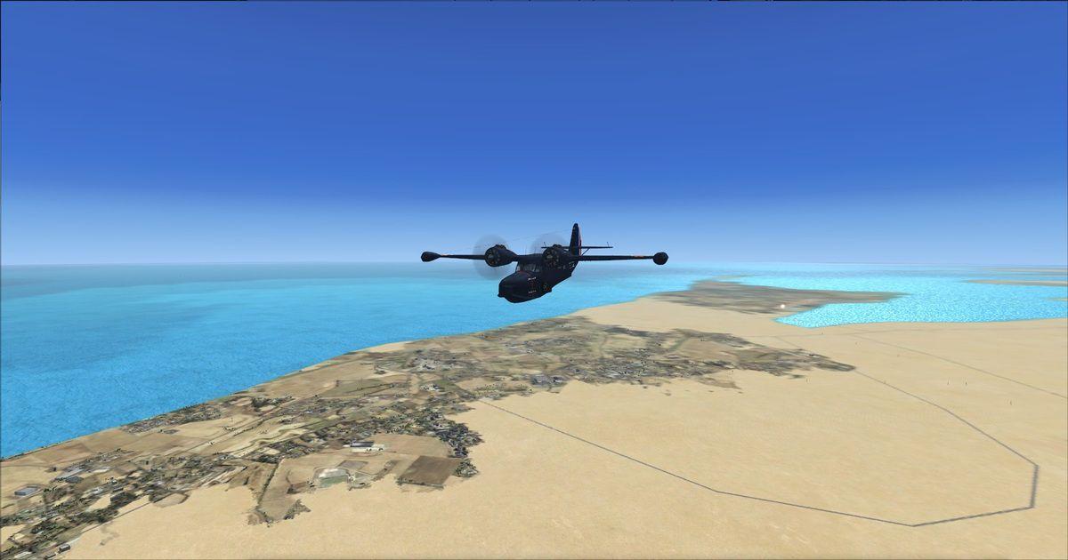 Passage au dessus de Ras Tanura en Arabie Saoudite...