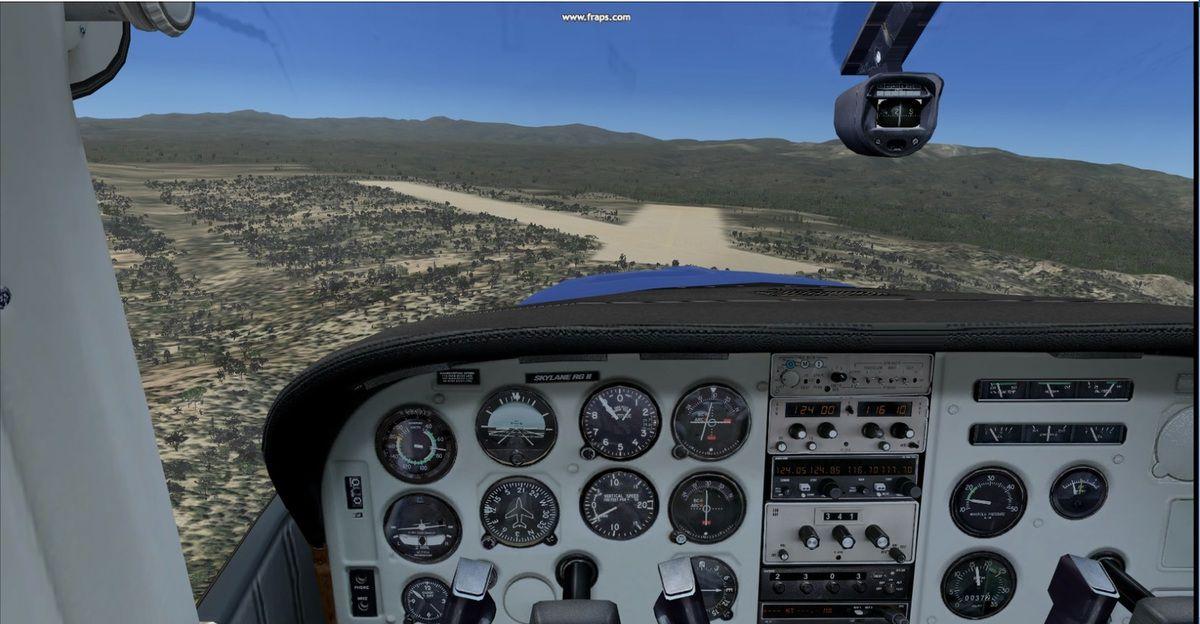 Approche par fort vent de travers sur la piste 21 de Negrito Airstrip...