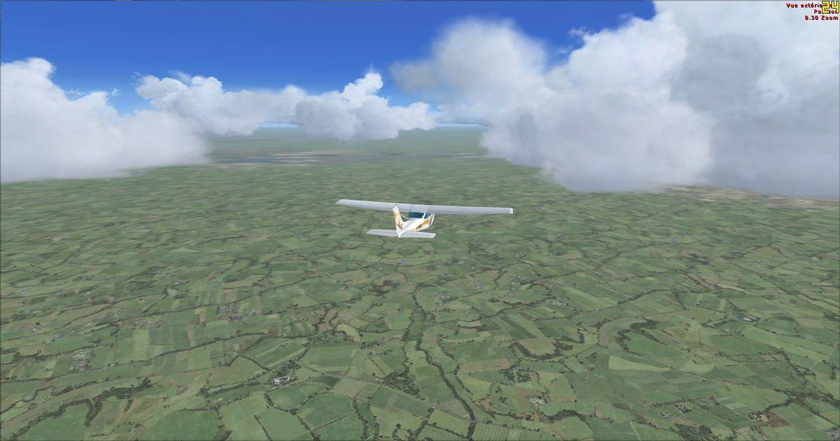 Les nuages gênent en alternance les trois pilotes présents...