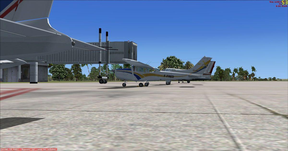 Le Cessna 182RG F-FRED et les autres appareils prêts au départ à Wuxi...