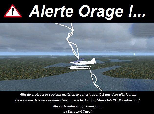 Risques d'orage sur Noé !...