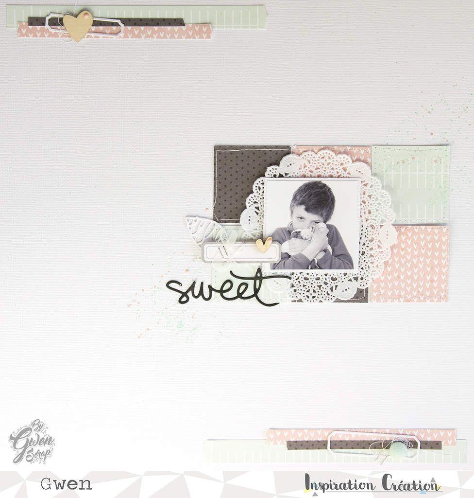 Sweet - Une page pour le challenge d'octobre chez {Inspiration Création}