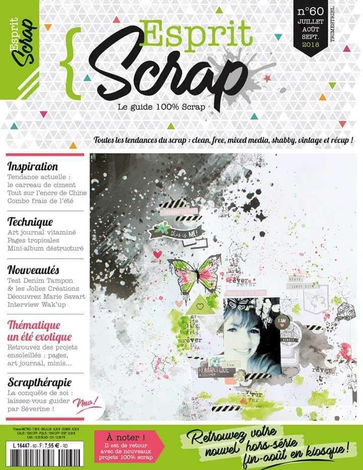 Esprit Scrap' n°60 - Eté 2018 {DT Esprit Scrap'}