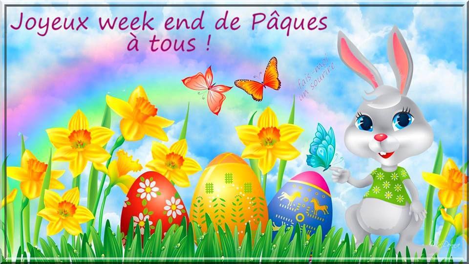 Très bon week-end de Pâques et bonnes vacances à tous!