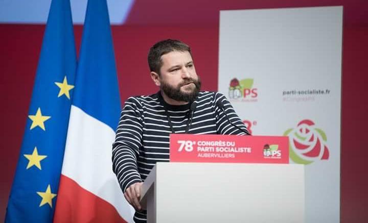 Le samedi 7 avril 2018, à la tribune du 78e congrès du Parti socialiste à Aubervilliers