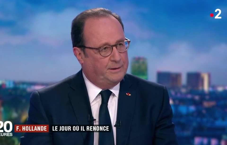 François Hollande dans le JT de France2, mardi 10 avril 2018