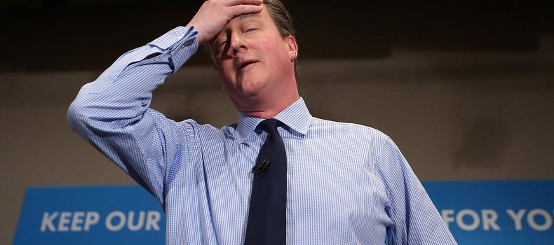 cette photo de David Cameron aurait pu être prise à l'annonce des résultats du référendum [joke]