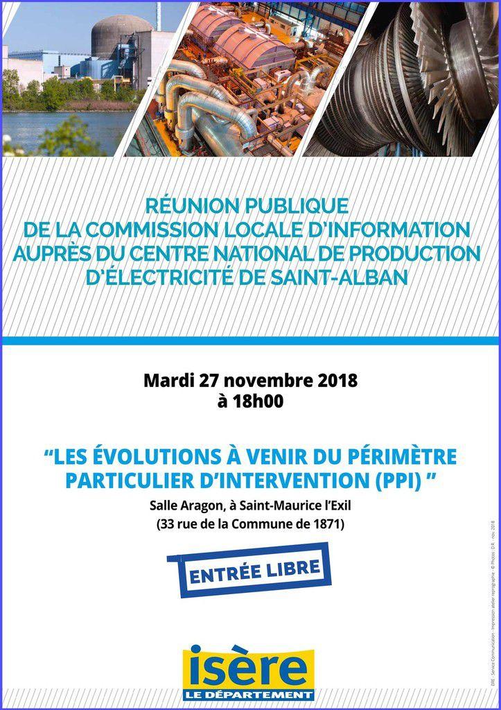 Centrale nucléaire de Saint-Alban-du-Rhône - Réunion publique